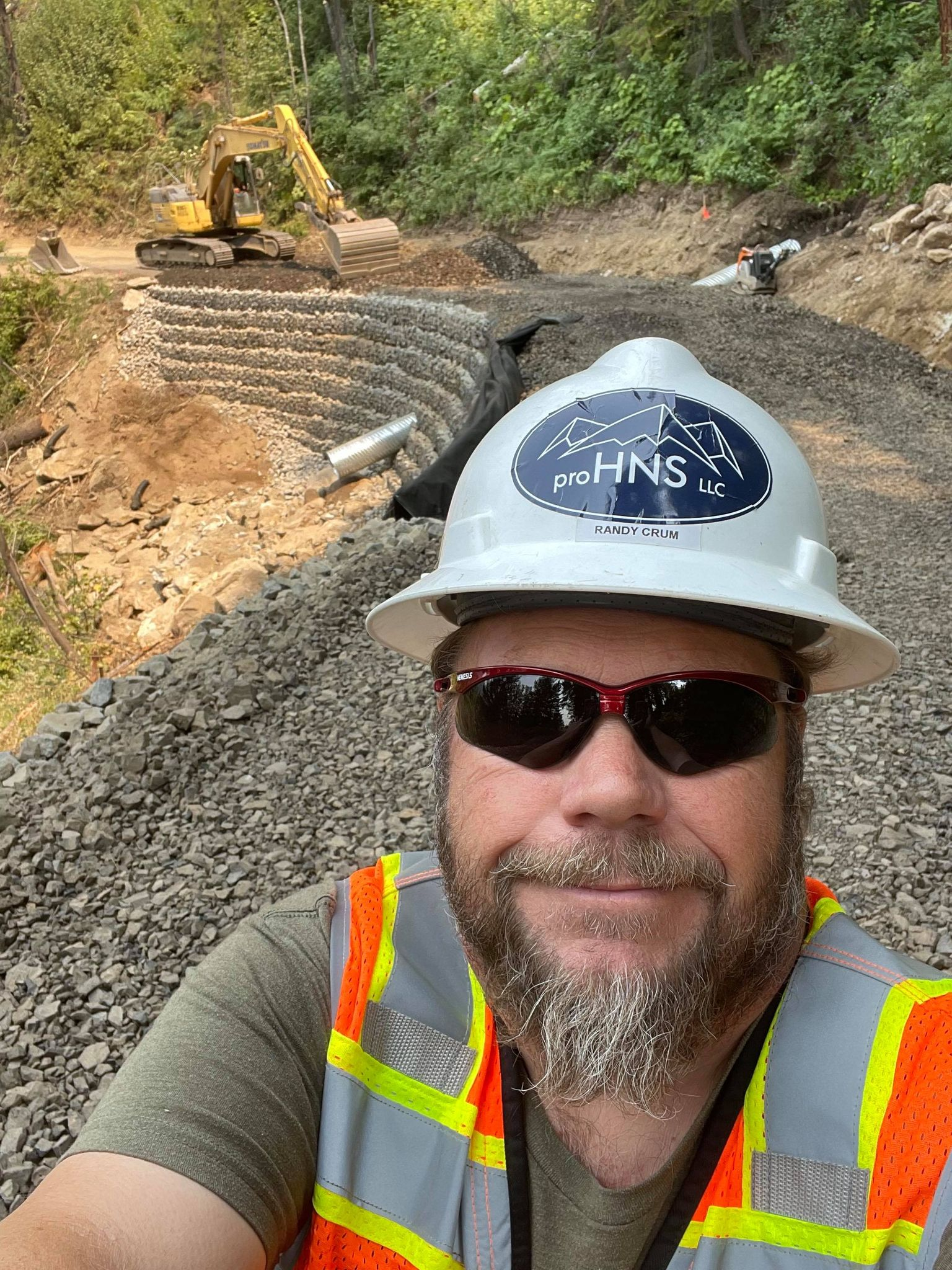 proHNS Engineering Inspector Randy Crum working on the Nez Perce Clearwater Repairs project in Idaho.
